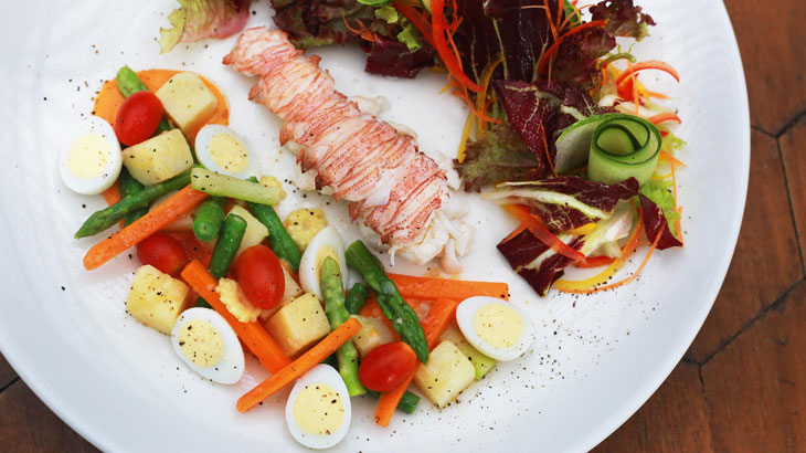 Phuket Lobster Nicoise by George Newling Ward Executive Chef of Impiana Resort Patong, Phuket